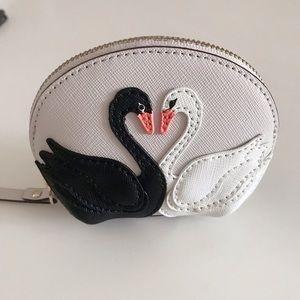 kate spade Bags - Kate Spade Swan Coin Purse with Key Chain